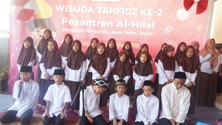 Semarak Wisuda Tahfidz kedua Pesantren Yatim Al-Hilal 2 Cibiru Bandung
