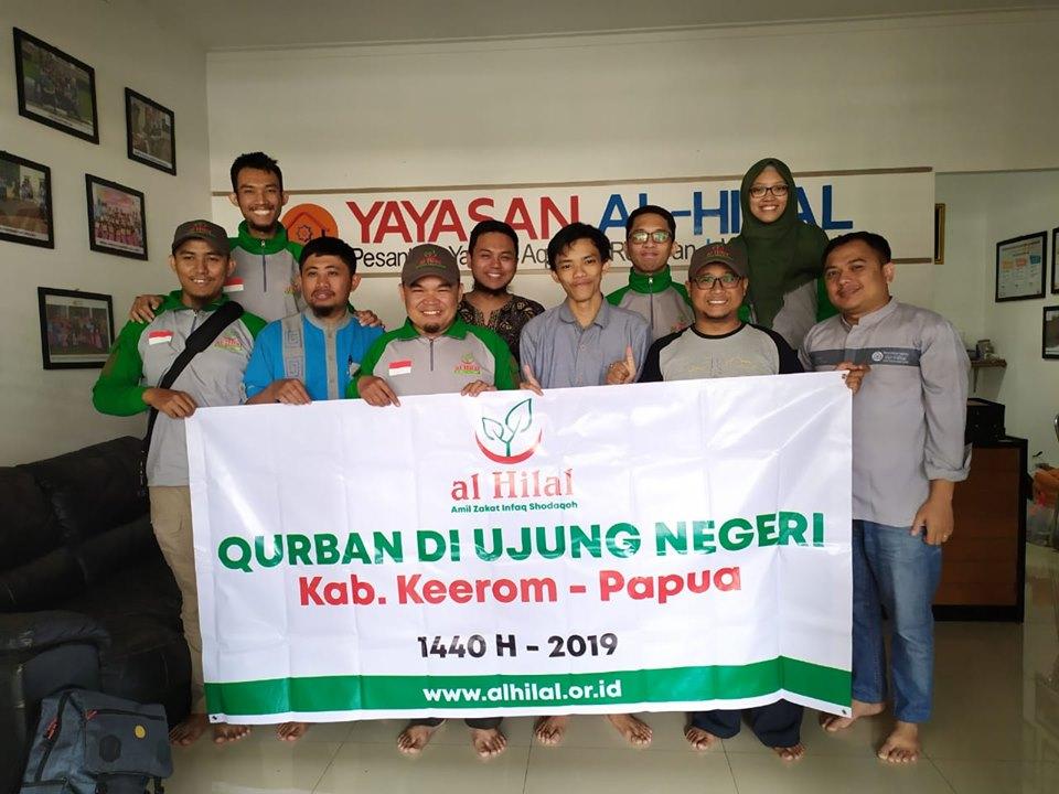 TIM al-Hilal Berangkat ke Papua Untuk Mendistribusikan Qurban