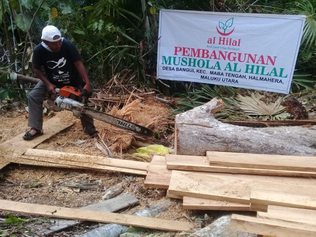 Mushola untuk Masyarakat di Pelosok Halmahera Masuk Proses Pembangunan 2
