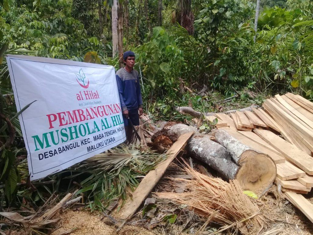 Mushola untuk Masyarakat di Pelosok Halmahera Masuk Proses Pembangunan 1