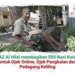 LAZ Al Hilal membagikan 500 Nasi Kotak se Bandung Raya
