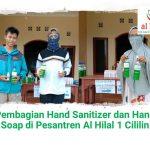 Pembagian Hand Sanitizer dan Hand Soap di Pesantren Al Hilal 1 Cililin