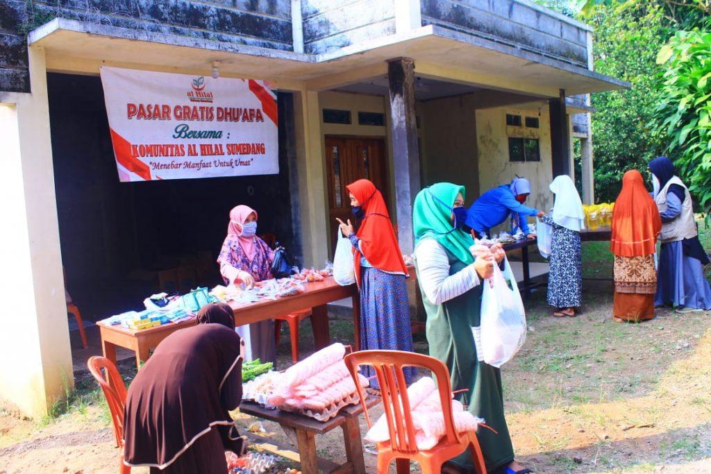 PASAR GRATIS DHUAFA BERSAMA KOMUNITAS AL HILAL SUMEDANG 3