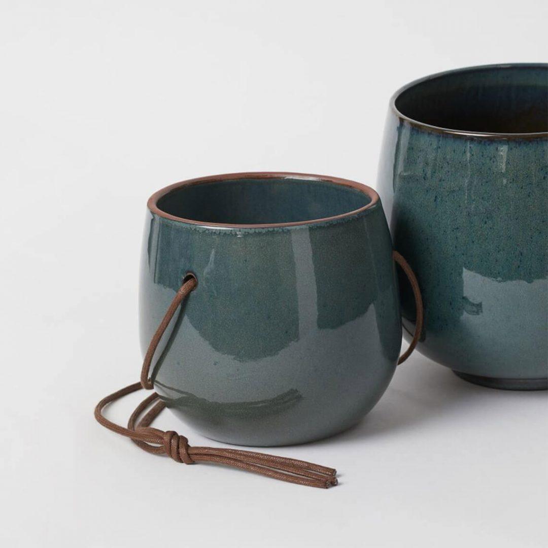 Glazed Ceramic Hanging Pot 1