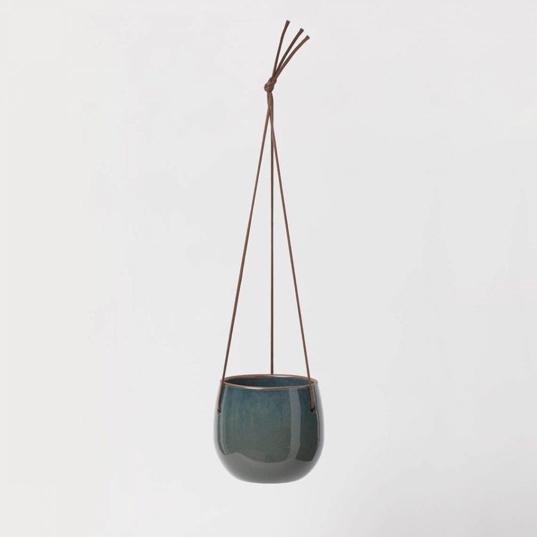 Glazed Ceramic Hanging Pot 2