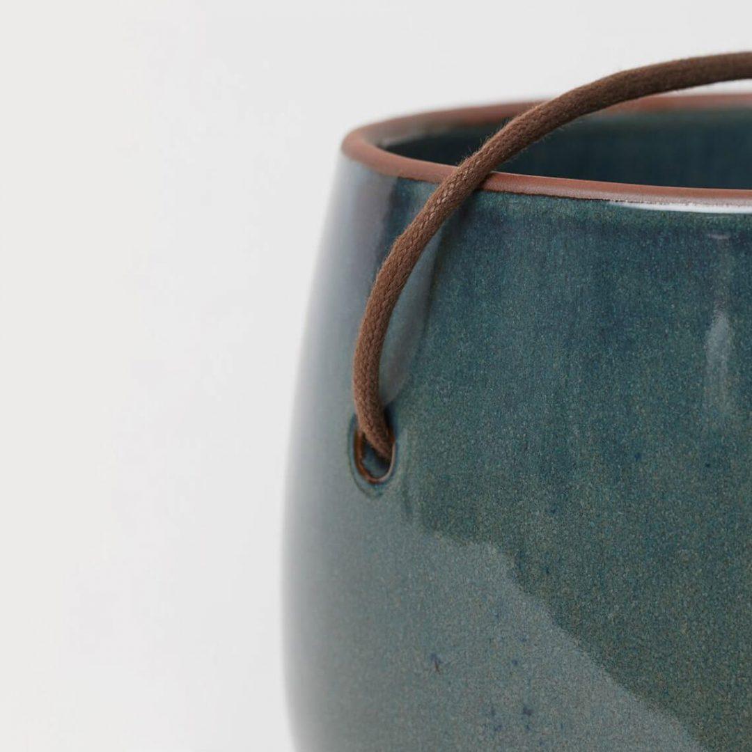 Glazed Ceramic Hanging Pot 3