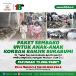 PESANTREN AL HILAL Paket Sembako Untuk Anak-Anak Korban Banjir Sukabumi