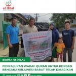 Penyaluran Wakaf Quran Untuk Korban Bencana Sulawesi Barat Telah Dibagikan