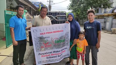 Penyaluran Wakaf Quran Untuk Korban Bencana Sulawesi Barat Telah Dibagikan 1