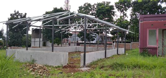 Perkembangan Pembangunan Mushola Al Hilal 1