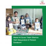 Wakaf Al Quran Telah Diterima Oleh Masyarakat di Pelosok Sukabumi