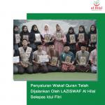 Penyaluran Wakaf Quran Telah Dijalankan Oleh LAZISWAF Al Hilal Selepas Idul Fitri