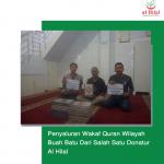 Penyaluran Wakaf Quran Wilayah Buah Batu Dari Salah Satu Donatur Al Hilal