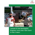 Laziswaf Al Hilal Membagikan Bingkisan Untuk Anak Yatim Santri Al Hilal, Cirebon