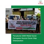 Penyaluran 2000 Wakaf Quran Peringatan Nuzulul Quran Siap Dilaksanakan