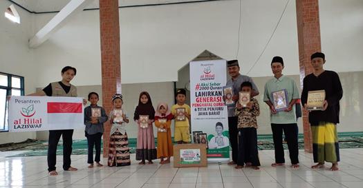"Kebahagiaan Warga dan Jamaah Masjid di Wilayah Cikelet Menerima Wakaf Quran ""Nuzulul Quran Ramadhan"" 1"