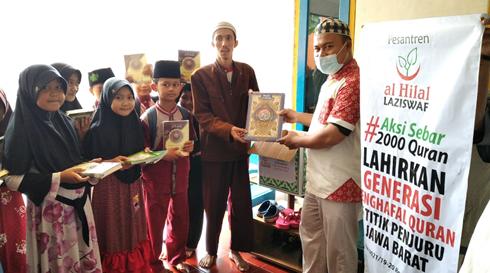 LAZISWAF Al Hilal Salurkan Al Quran Ke Daerah Sindang Kerta Gunung Halu 3