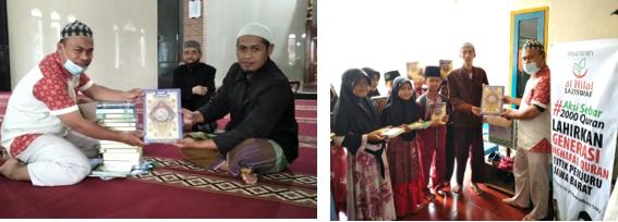 LAZISWAF Al Hilal Salurkan Al Quran Ke Daerah Sindang Kerta Gunung Halu 5