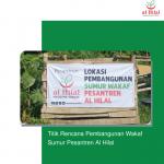 Titik Rencana Pembangunan Wakaf Sumur Pesantren Al Hilal