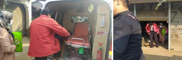 Pengantaran Pasien Asam Lambung Menuju Rumah Sakit Santosa 2