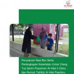 Penyaluran Nasi Box Serta Perlengkapan Kesehatan Untuk Orang Tua Santri Pesantren Al Hilal 2 Cibiru dan Rumah Tahfidz Al Hilal Pasirbiru
