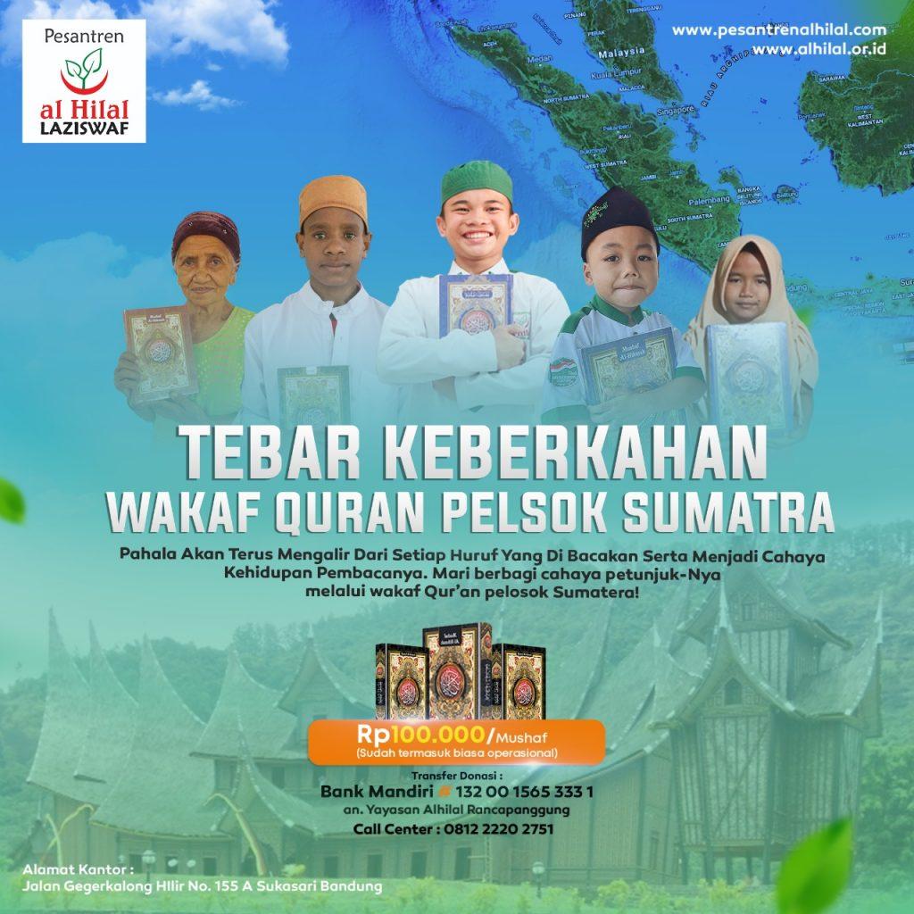 Membumikan Al Quran Dengan Berwakaf Quran Untuk Pelosok Sumatera 1
