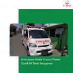 Ambulance Gratis Khusus Pasien Covid-19 Telah Beroperasi