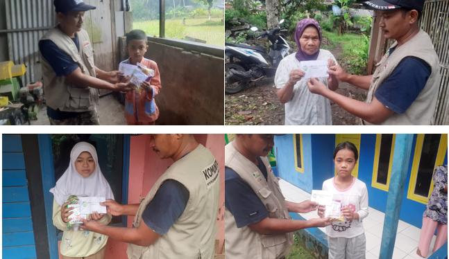 Walaupun Hujan Cukup Deras, Komunitas Al Hilal Tasikmalaya Selatan Tetap Bersemangat Menyalurkan Bantuan Untuk Anak Yatim dan Dhuafa 3