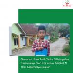 Santunan Untuk Anak Yatim Di Kabupaten Tasikmalaya Oleh Komunitas Sahabat Al Hilal Tasikmalaya Selatan