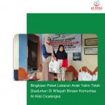 Bingkisan Paket Lebaran Anak Yatim Telah Disalurkan Di Wilayah Binaan Komunitas Al Hilal Cicalengka