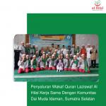 Penyaluran Wakaf Quran Laziswaf Al Hilal Kerja Sama Dengan Komunitas Dai Muda Idaman, Sumatra Selatan