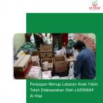 Persiapan Menuju Lebaran Anak Yatim Telah Dilaksanakan Oleh LAZISWAF Al Hilal