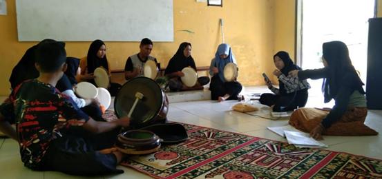 Pembagian Wakaf Al-Quran Sekaligus Peresmian Pembangunan Gedung Pertama Pesantren Mambaul Huda, Sumatra Selatan 1