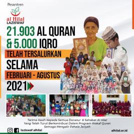 Penyaluran Wakaf Quran Yang Telah Dilaksanakan LAZISWAF Al Hilal Selama Februari Hingga Agustus 2021 1