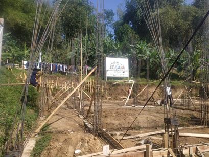 Progres Pembangunan Asrama Impian Santri Yatim Pesantren Al Hilal 1