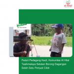 Peduli Pedagang Kecil, Komunitas Al Hilal Tasikmalaya Selatan Borong Dagangan Salah Satu Penjual Cilok