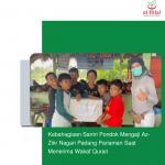 Kebahagiaan Santri Pondok Mengaji Az-Zikr Nagari Padang Pariaman Saat Menerima Wakaf Quran