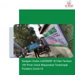 Sarapan Gratis LAZISWAF Al Hilal Tembus 100 Porsi Untuk Masyarakat Terdampak Pandemi Covid-19