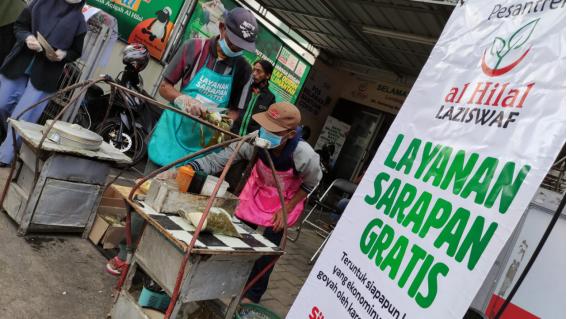 Sarapan Gratis Ke-3 LAZISWAF Al Hilal Sukses Diselenggarakan! Dagangan Pak Suratmo Habis Terjual 11